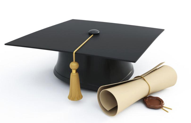 University Graduate Cap and Certificate