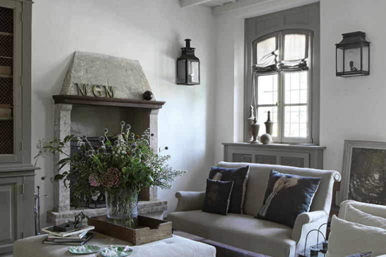 Modern rustic shabby chic room