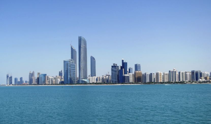 AbuDhabi Skyline Of Tower blocks Near the Sea