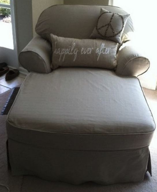 Custom personalized cushion on chaise lounge