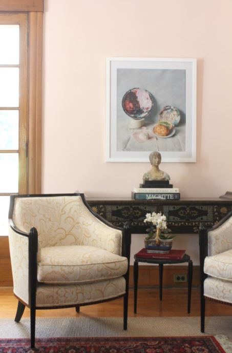 parlor room in pastel